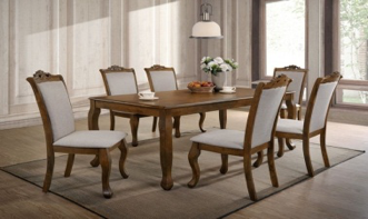 DELINE 9 PIC DINNING WITH 2 ARM CHAIR